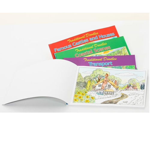 Picture of Doodles Painting Books for adults (set of 4)