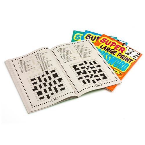 Picture of Large Print Crossword Books - set of 4
