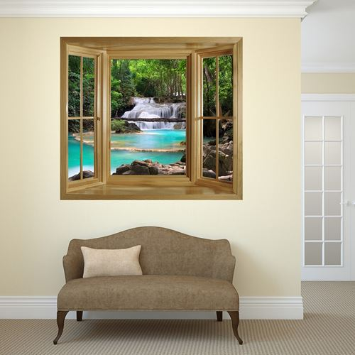 Picture of 'Through The Window' Wall Mural - Waterfall