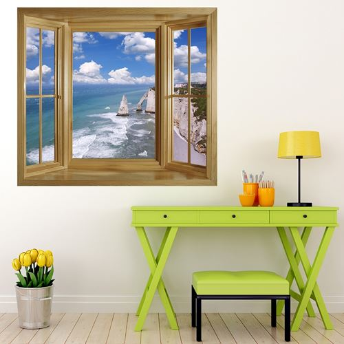 Picture of 'Through The Window' Wall Mural - Coastline