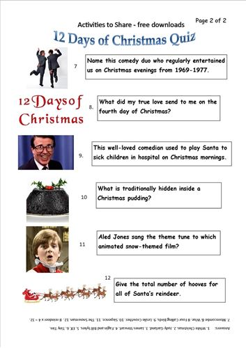 Picture of DL22 12 Days of Christmas Quiz (page 2)
