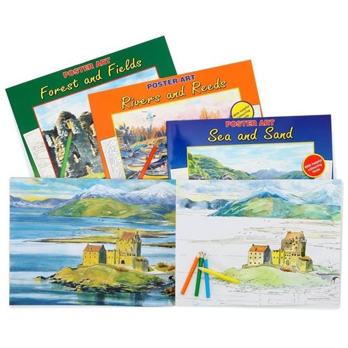 Picture of Colouring Books for Adults - Country Scenes (set of 12)