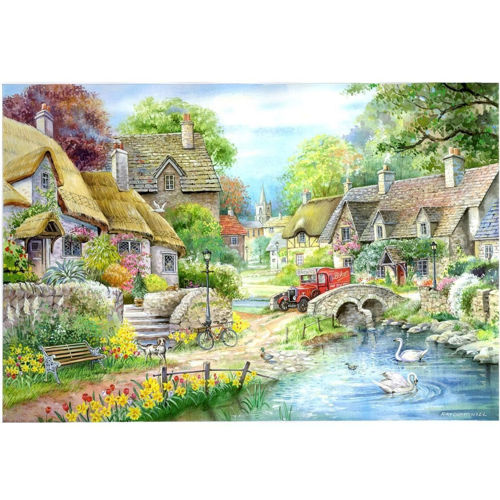 Activities to Share - 250 Large Piece puzzle - Riverside Cottage