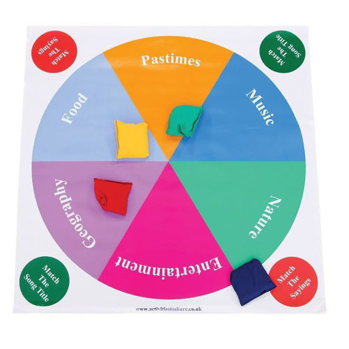 Quiz Floor Mat with 6 colourful segments