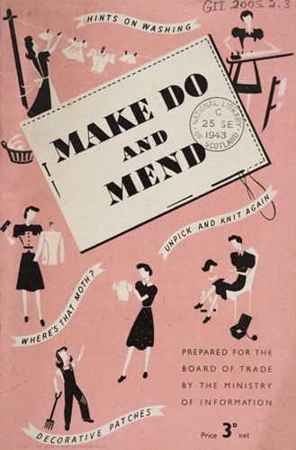 Make Do and Mend retro booklet  - Activities to Share