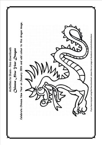 Picture of Chinese New Year Colouring Activity