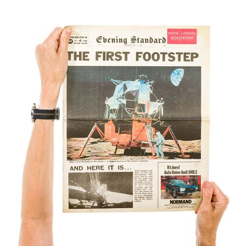 Picture of Newspaper - Moon Landing 1969