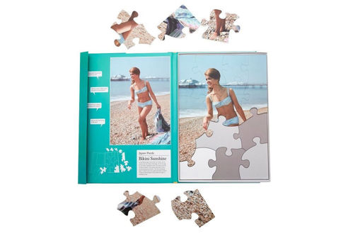 Bikini Sunshine 13 Large Piece Plastic Puzzle all abilities, chunky easy grip pieces, puzzle size: (l) 36cm x (w) 25cm.