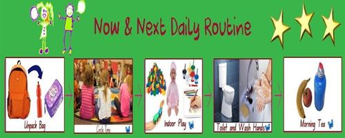 Picture of See n Speak Now and Next Desk Preschool Routine
