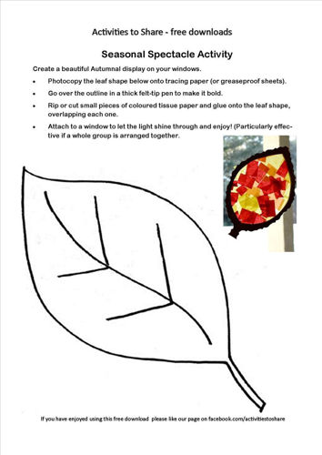 Picture of Seasonal Spectacle Activity Free Activity Download