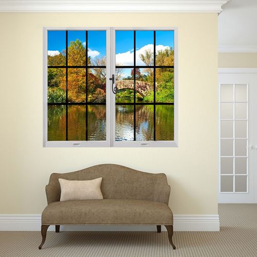 Picture of Through the Window Wall Mural - Riverside View