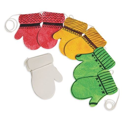 Picture of Festive Mitten Garland (makes 24)