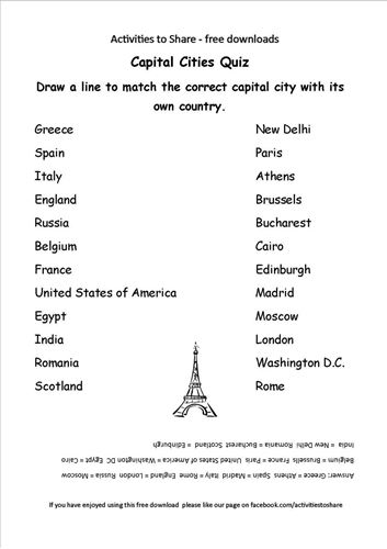 Picture of Capital Cities Quiz