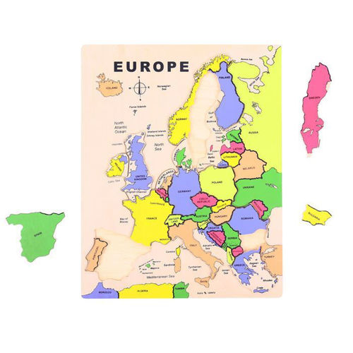 Activities to Share - 19 Piece Wooden Europe Puzzle