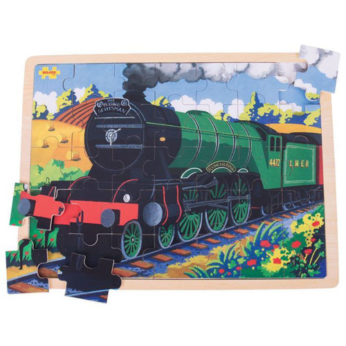 Picture of 35 Large Piece Wooden Puzzle - Flying Scotsman