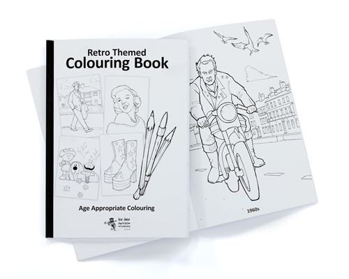 Picture of Retro Themed Colouring Book 40s - 70s