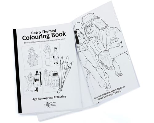 Picture of Retro Themed Colouring Book Children's TV 60s/70s