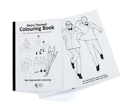 Picture of Retro Themed Colouring Book TV 60s/70s