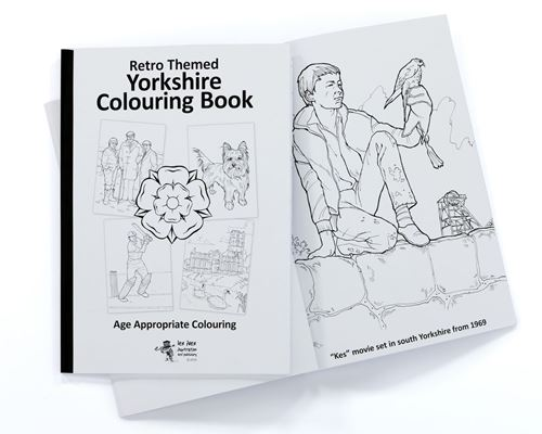 Picture of Retro Themed Colouring Book Yorkshire