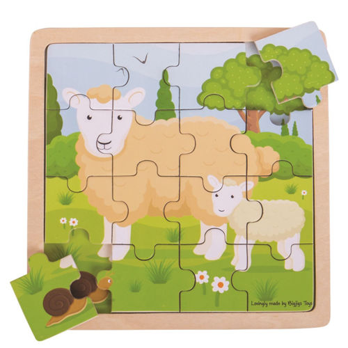 Activities to Share - 16 Large Piece Wooden Puzzle - Sheep & Lamb