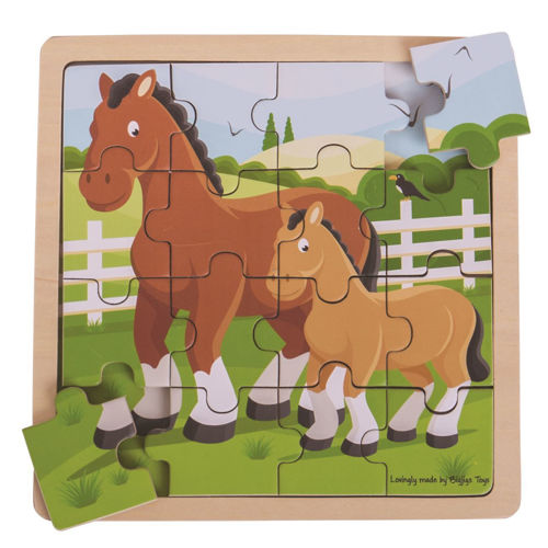 Activities to Share - 16 Large Piece Puzzle - Horse & Foal