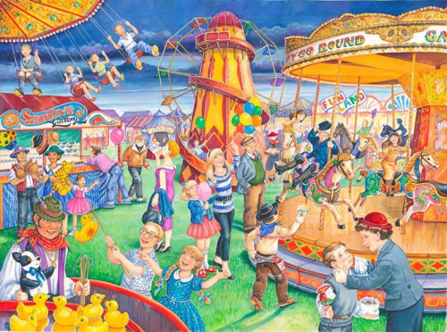 Activities to Share - 250 Large Piece Puzzle - Fairground Rides