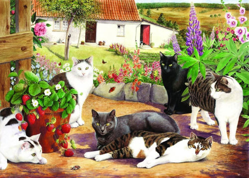 Picture of 500 Large Piece Puzzle - Cool Cats