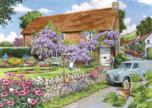 Activities to Share - 250 Large Piece Puzzle - Wisteria Cottage