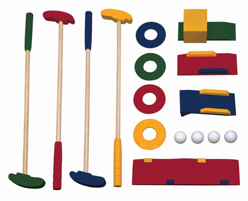 Picture of Wooden Crazy Golf Set