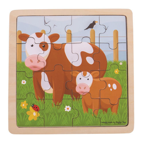 Picture of 16 Large Piece Wooden Puzzle - Cow and Calf