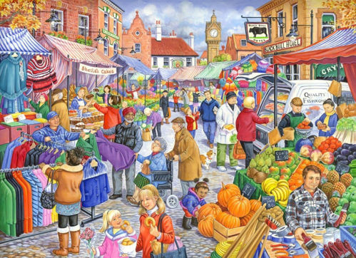 Activities to Share - 250 Large Piece Puzzle - Market Day
