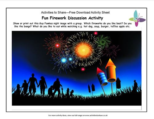 Picture of Fun Firework Discussion Activity