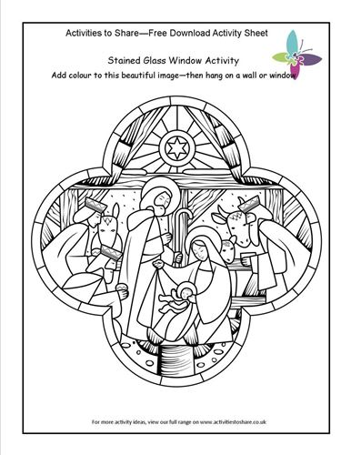 Picture of Stained Glass Window Activity