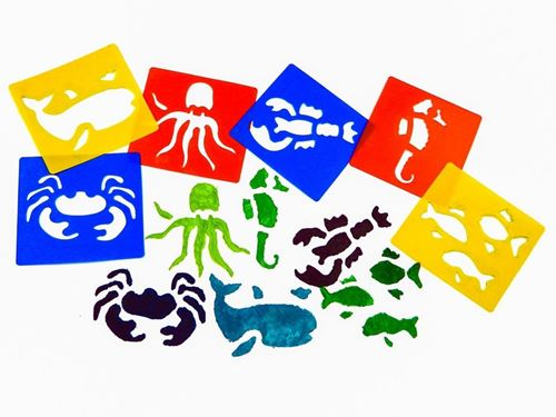 Picture of Sea Life Washable Stencils (pack of 6)