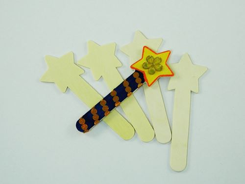 Picture of Wooden Craft Sticks - Stars (Pack of 10)