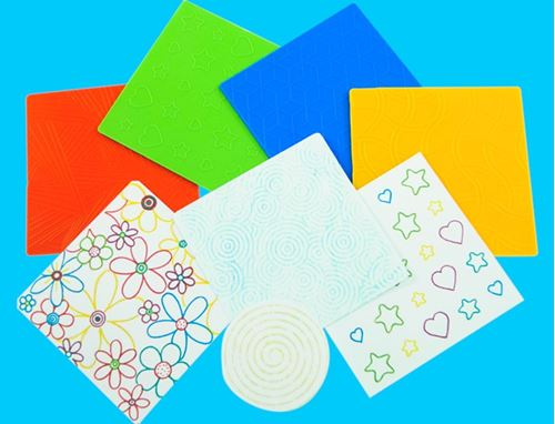 Picture of Pattern Rubbing and Embossing Plates (Pack of 4)