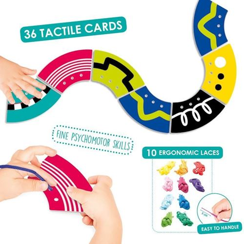 Picture of Tactile Cards For Lacing Paths