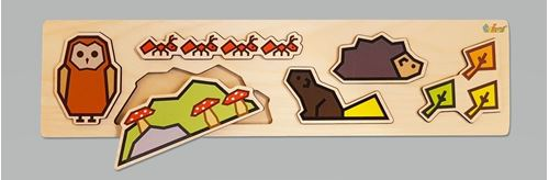 Picture of 6 Piece Wooden Puzzle - Forest