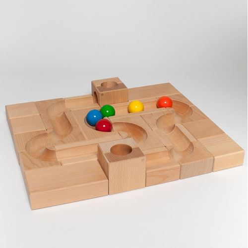 Picture of Deluxe Wooden Ball Track - Classic XL (26 Piece)