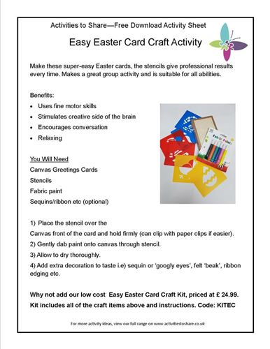 Picture of Easy Easter Cards Activity