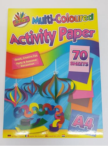 Picture of Multicoloured Activity Paper A4 (70 Assorted Sheets)