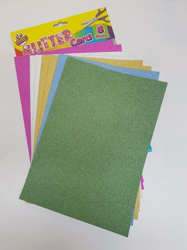 Picture of Glitter Card (Pack of 8 Sheets)