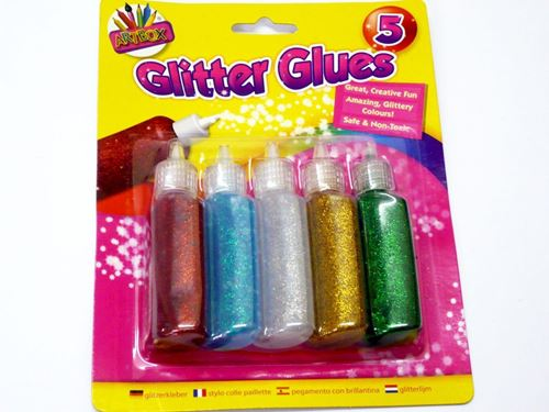 Picture of Glitter Glue (Pack 5 Assorted Colours)