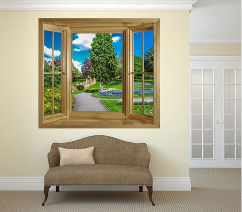 Picture of Through the Window Wall Mural - Castle Grounds