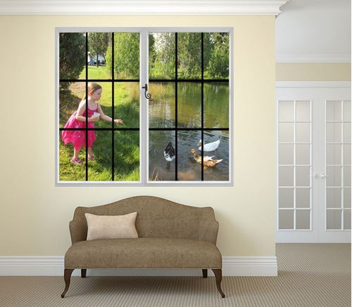 Picture of Through the Window Wall Mural - Feeding the Ducks