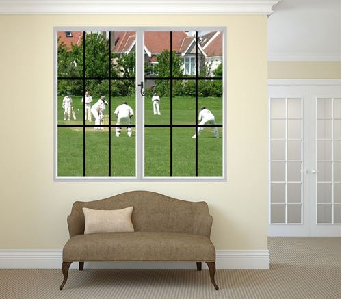 Picture of Through the Window Wall Mural - Howzat! Cricket