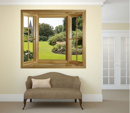 Picture of Through the Window Wall Mural - Church View