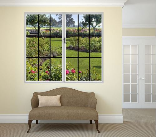 Picture of Through the Window Wall Mural - A Spring Garden