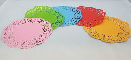 Picture of Coloured Doilies (Pack of 120)