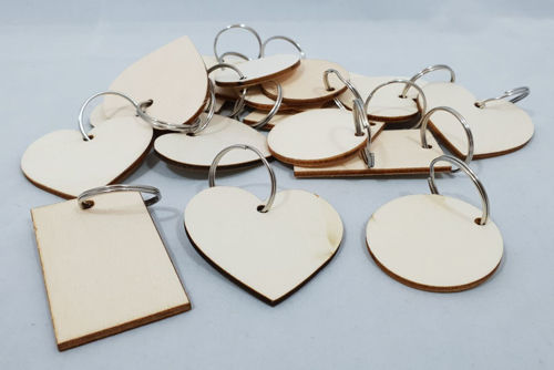 Picture of DIY Wood Keyrings (Set of 18 Assorted)